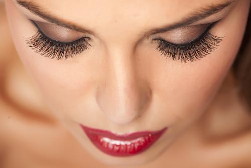 Eyelash extensions at Merle Norman Kelowna
