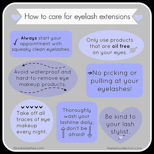 Lash Extensions, eyelash extensions, care